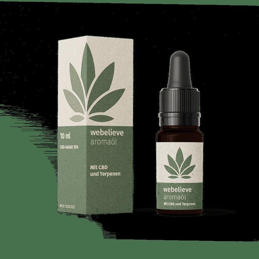 CBD Aromaöl 10% | 1000mg | Bio-Hanföl von WeBelieve